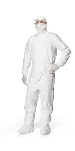 tyvek isocleangowning coverall and accessories clean processed sterile