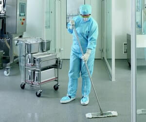 easy mop cleaning system for cleanroom