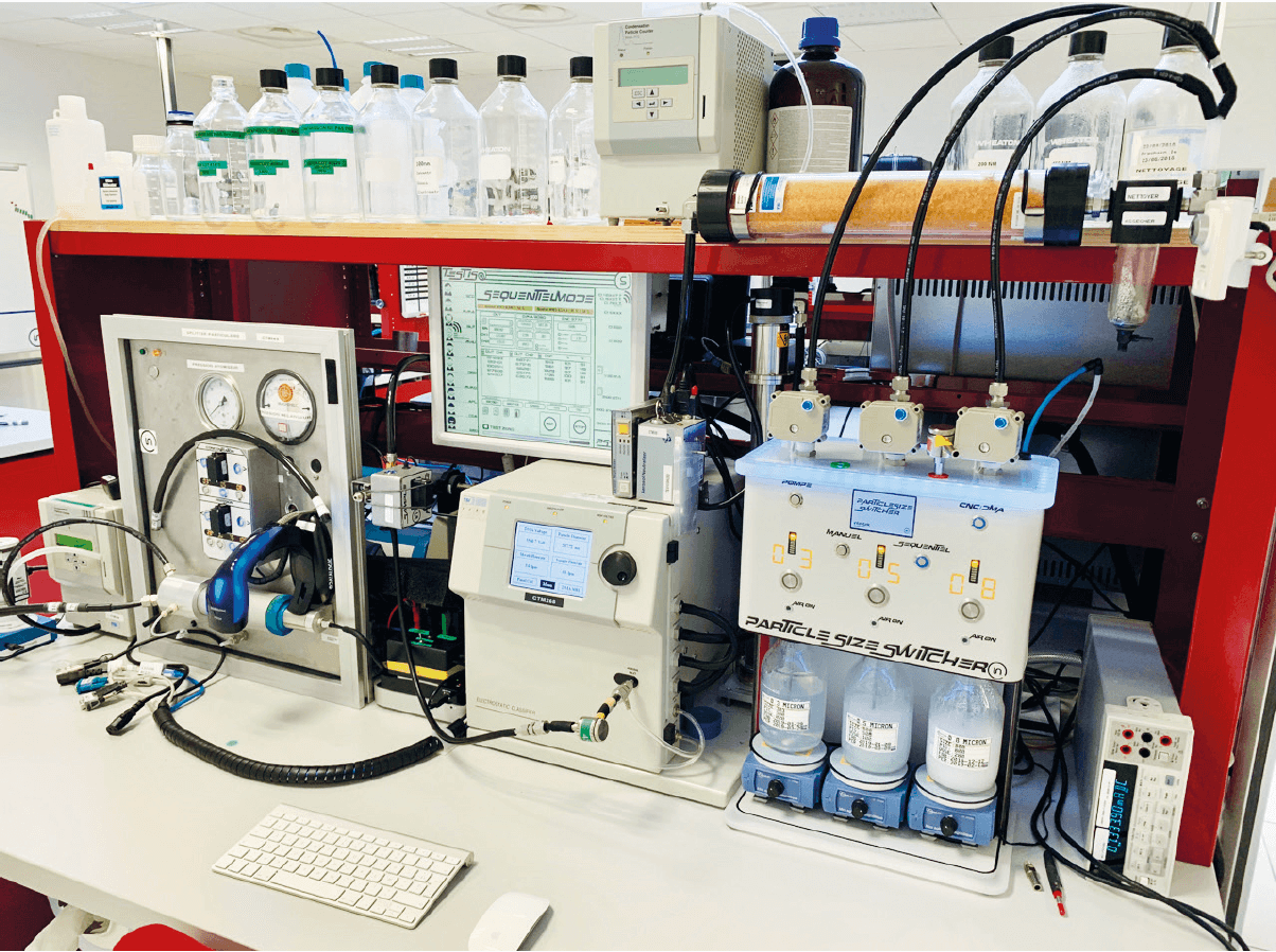 Metrological verification of air particle counters: constructing a test bench to measure counting efficiency according to ISO 21501-4.